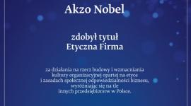 AkzoNobel z tytułem Etyczna Firma 2018